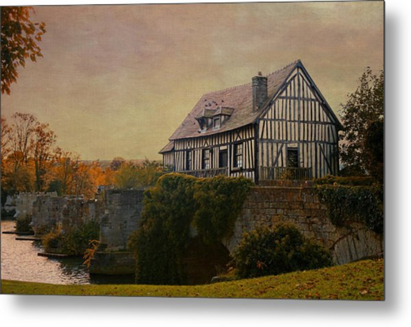 Old Mill On The Broken Bridge At Vernon Metal Print
