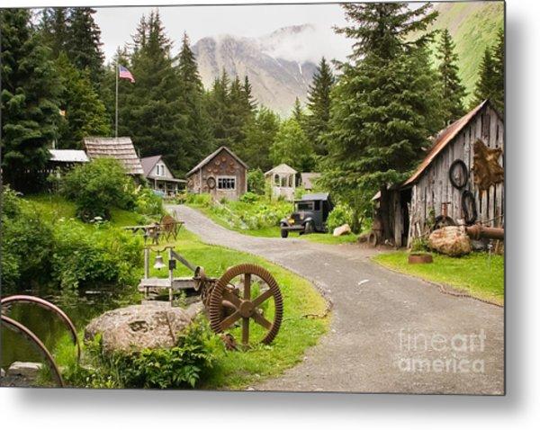 Old Mining Alaskan Town Metal Print