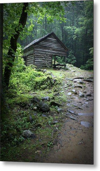 Old Mountain Cabin Metal Print