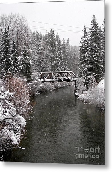 Old Nason Creek Bridge Metal Print