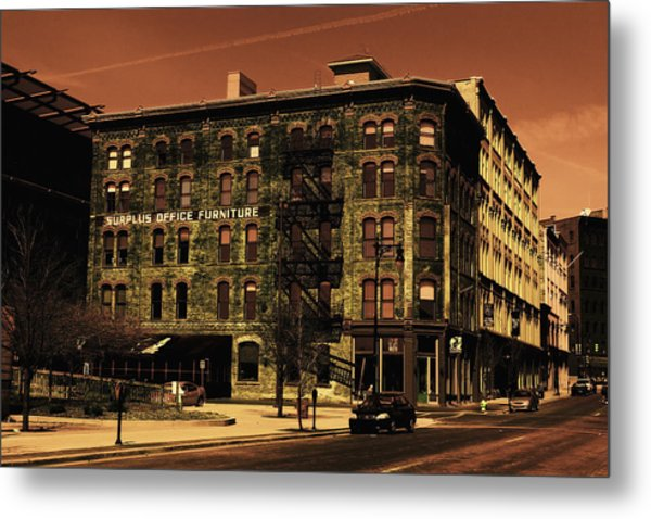 Old Office Furniture Building Metal Print
