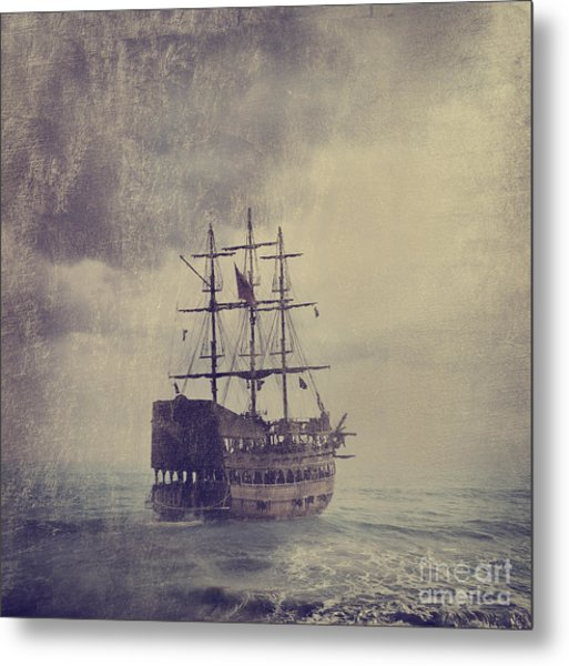 Old Pirate Ship Metal Print by Jelena Jovanovic