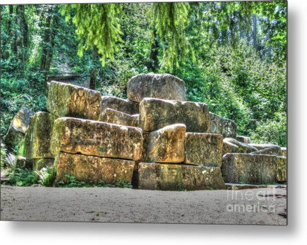 Old Quarry Stones Metal Print