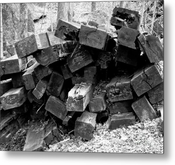 Metal Print featuring the photograph Old Railroad Ties by Kristen Fox