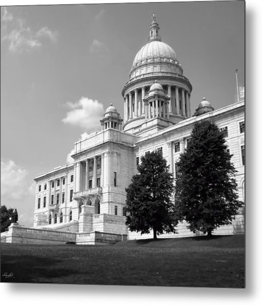 Old Rhode Island State House Bw Metal Print