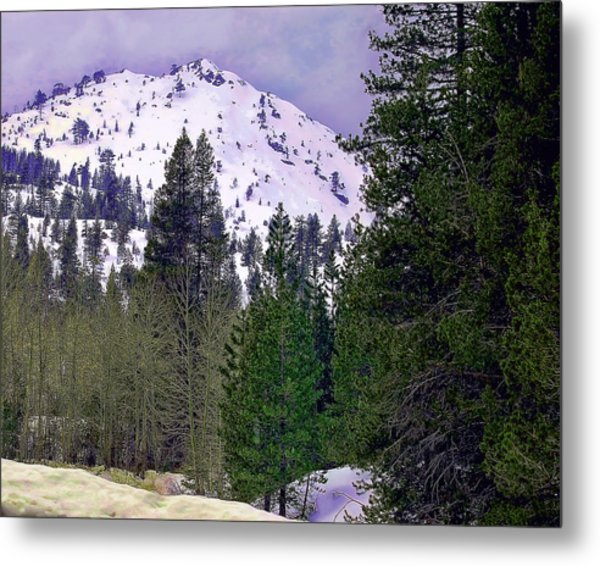 Old Route 40 Winter Metal Print