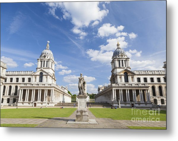 Old Royal Naval College In Greenwich Metal Print by Roberto Morgenthaler