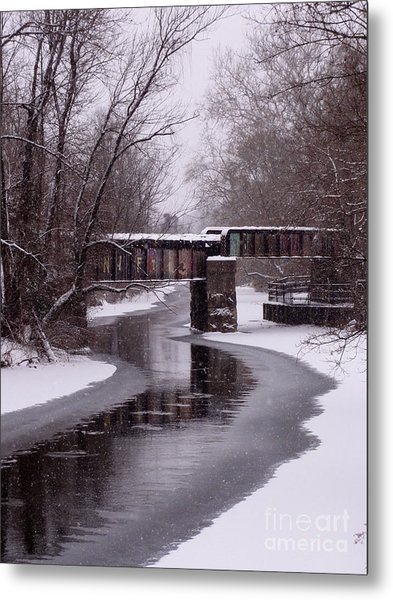 The Nifti Railroad Bridge Metal Print