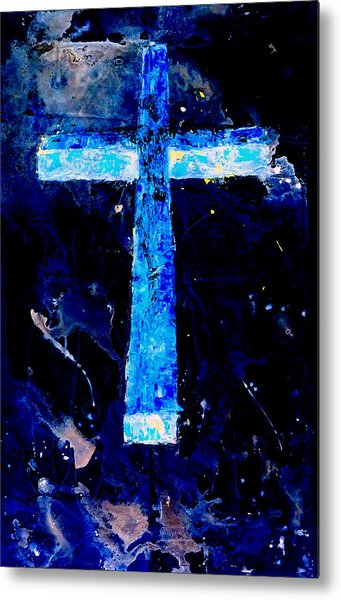 Old Rugged Cross II Metal Print