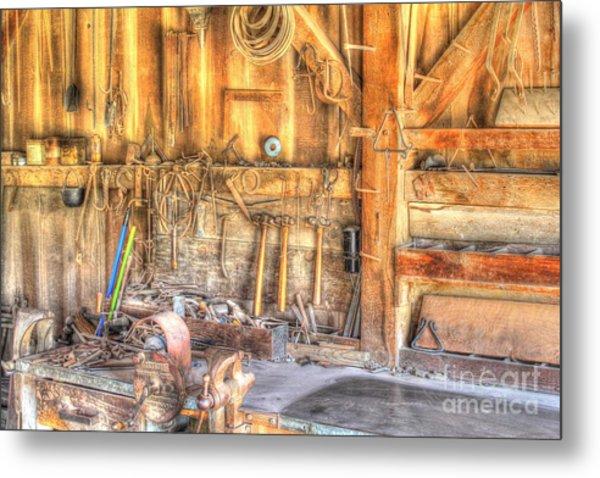 Old Rustic Workshop Metal Print
