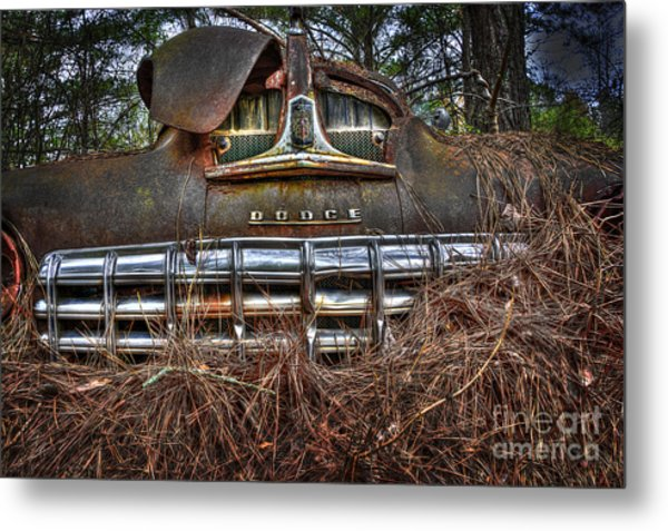 Old Rusty Dodge Metal Print