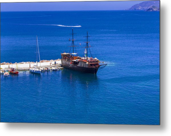 Old Sailing Ship In Bali Metal Print