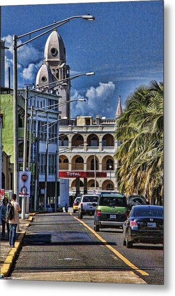 Old San Juan Cityscape Metal Print