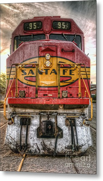 Old Santa Fe Engine Metal Print