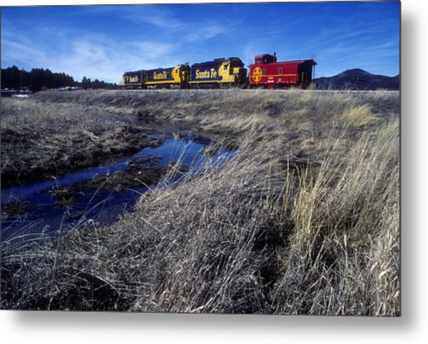 Metal Print featuring the photograph Old Sante Fe Waits In Williams Arizona by David Bailey