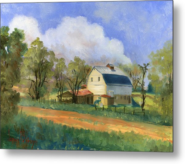 Old Saunders Barn Metal Print