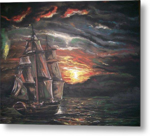 Old Ship Of The Sea Metal Print