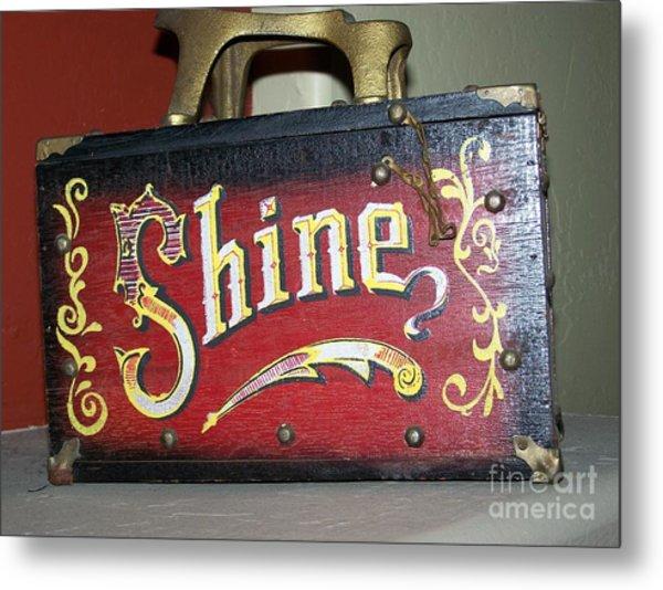 Old Shoe Shine Kit Metal Print