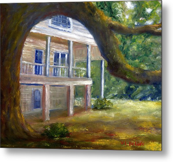 Old Southern Louisiana Mansion Plantation Metal Print