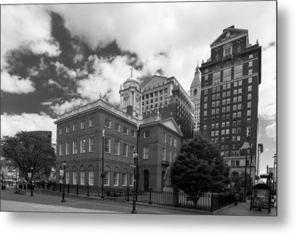 Old State House 15568b Metal Print