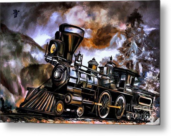 Old Steam Engine  Metal Print by Andrzej Szczerski