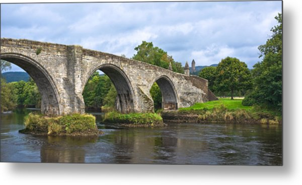 Old Stirling Bridge - Scotland Metal Print