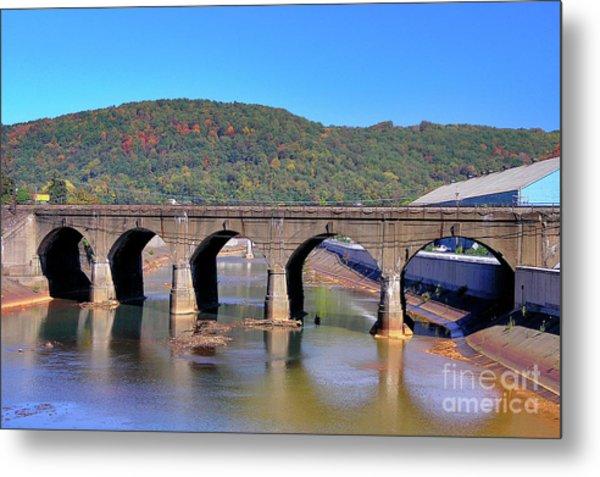 Old Stone Bridge - Johnstown Pa Metal Print