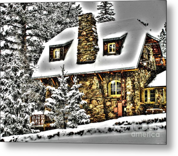 Old Stone Building Metal Print