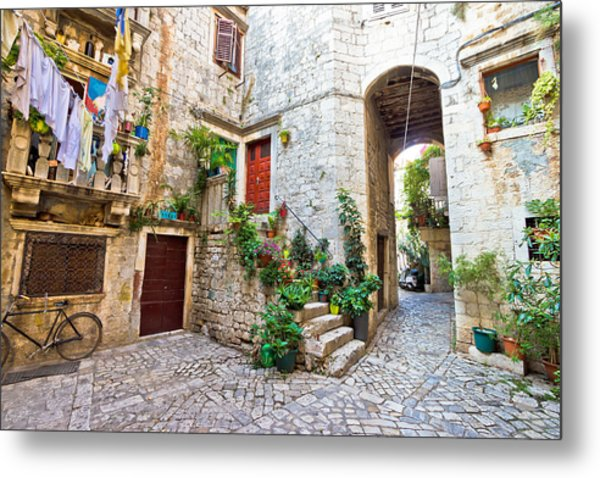 Old Stone Street Of Trogir Metal Print