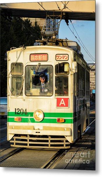 Old Streetcar In Kumamoto - Kyushu - Japan Metal Print