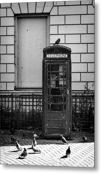 Old Telephone Box Metal Print by Jim Orr