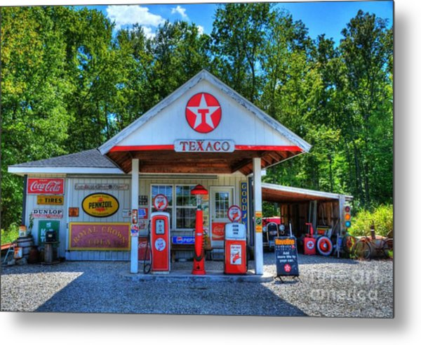 Metal Print featuring the photograph Old Texaco Station by Mel Steinhauer