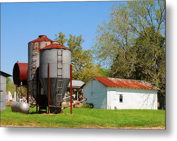 Old Texas Farm Metal Print