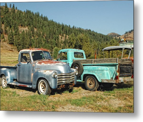 Old Timers Metal Print