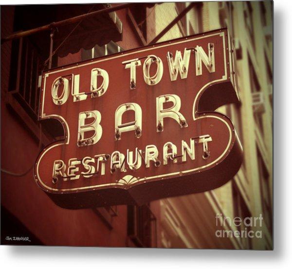 Old Town Bar - New York Metal Print
