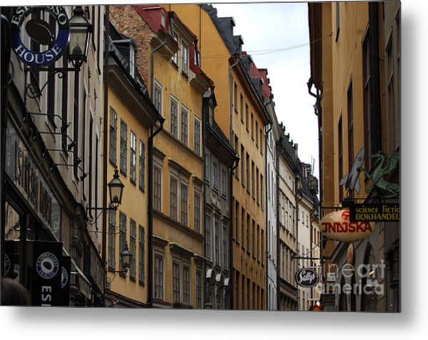 Old Town In Stockholm Sweden Metal Print by Micah May