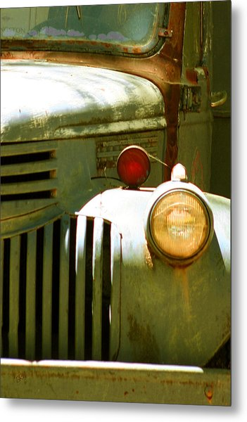 Old Truck Abstract Metal Print