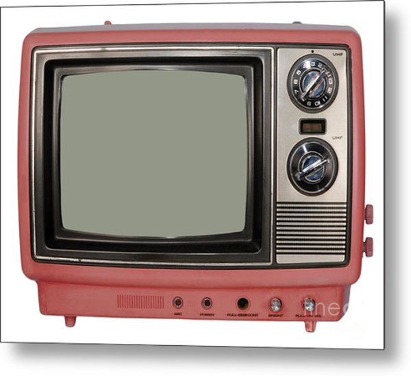 Vintage Tv Set Metal Print