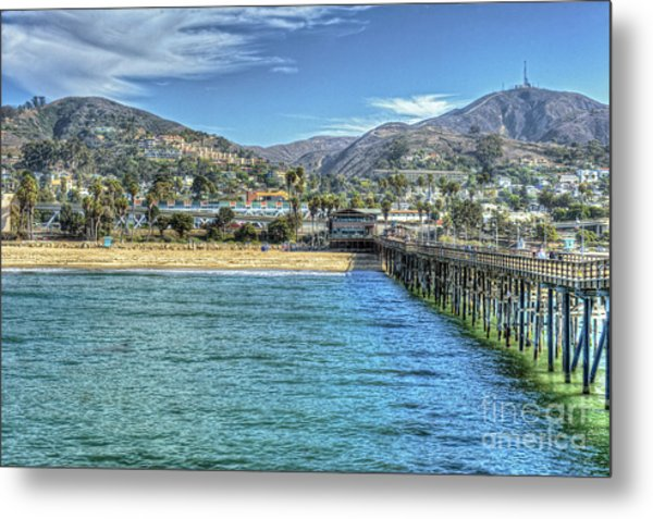 Old Ventura City From The Pier Metal Print
