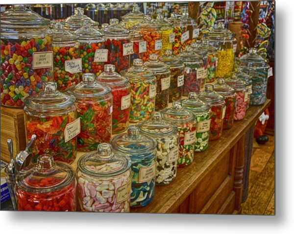 Old Village Mercantile Caledonia Mo Candy Jars Dsc04014 Metal Print