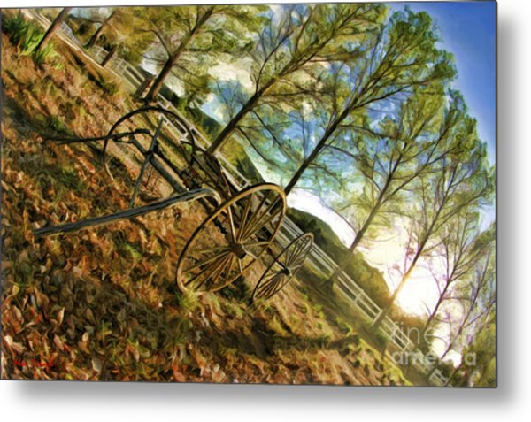 Old Wagon Metal Print
