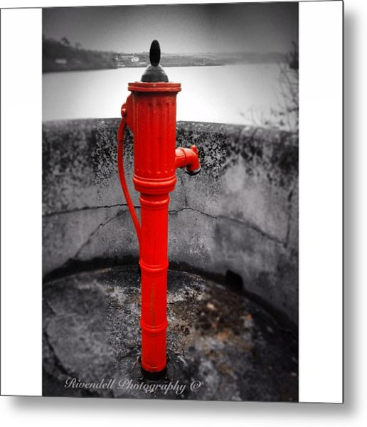 Old Water Pump Kinsale Metal Print by Maeve O Connell