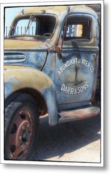 Old Water Truck Metal Print