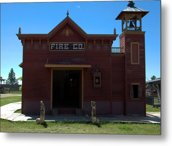 Old West Fire Station Metal Print