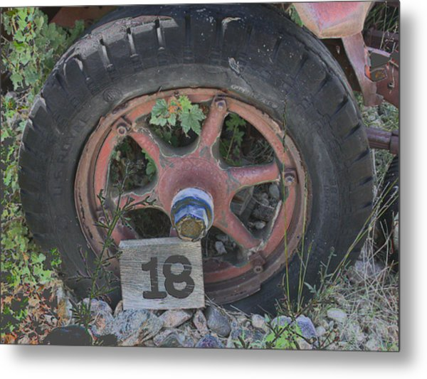Old Wheel Metal Print
