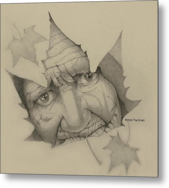 Old Woman Leaf  Metal Print