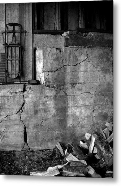 Old Wood Shed Metal Print