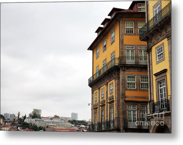 Old World Buildings In  Porto Metal Print by John Rizzuto
