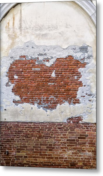 Old Worn Out Wall In Venice Metal Print by Francesco Rizzato