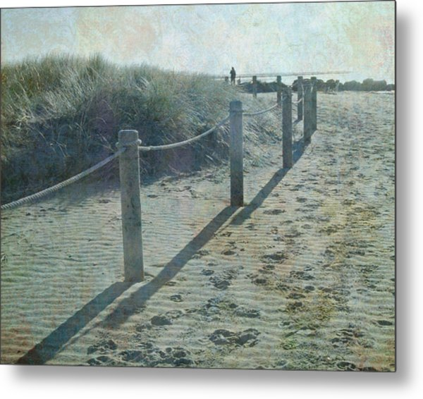 Olde Worlde Beach Metal Print